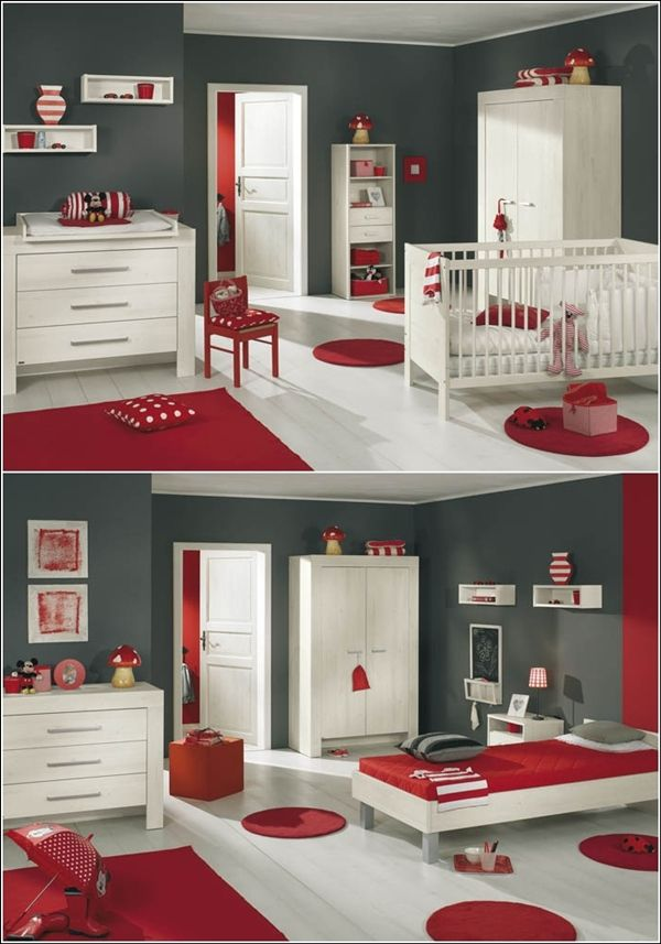 relooking et d coration 2017 2018 inspiration de d coration en rouge vif gris et blanc. Black Bedroom Furniture Sets. Home Design Ideas
