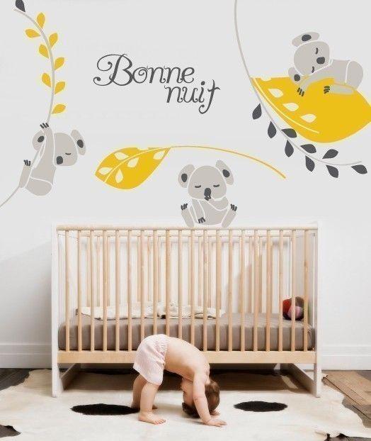 Relooking et d coration 2017 2018 les plus beaux stickers muraux pour la chambre de b b - Sticker pour chambre bebe ...
