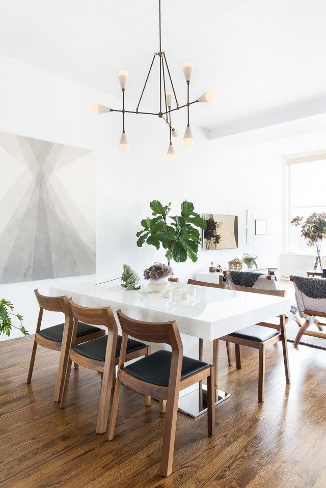 Description Awesome Salle A Manger Clean And Modern Dining Room With Large Art
