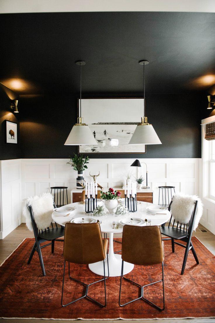 Description Black Dining Room