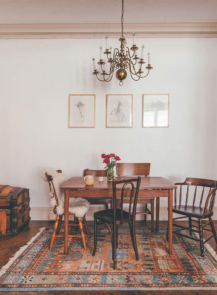 salle manger this painter s baltimore home embodies vintage ease design sponge. Black Bedroom Furniture Sets. Home Design Ideas