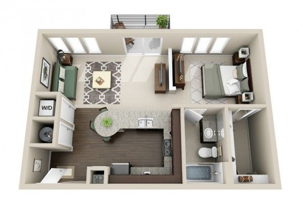 Plans Maison En Photos 2018 - 50 Plans Gratuit En 3D D'Appartement