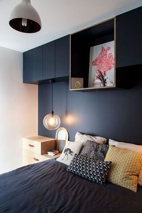 relooking et d coration 2017 2018 apr s travaux une alc ve bleue dans la chambre. Black Bedroom Furniture Sets. Home Design Ideas
