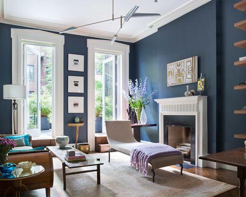 Déco Salon - Benjamin Moore Blue Note Living room ...