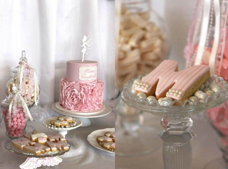D coration bapteme fille en rose poudr biscuits for Decoration maison rose poudre