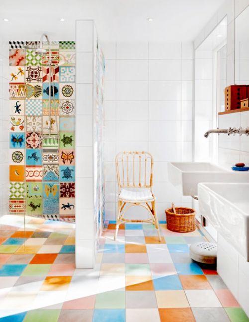 Idée décoration Salle de bain - Carrelage salle de bain original ...