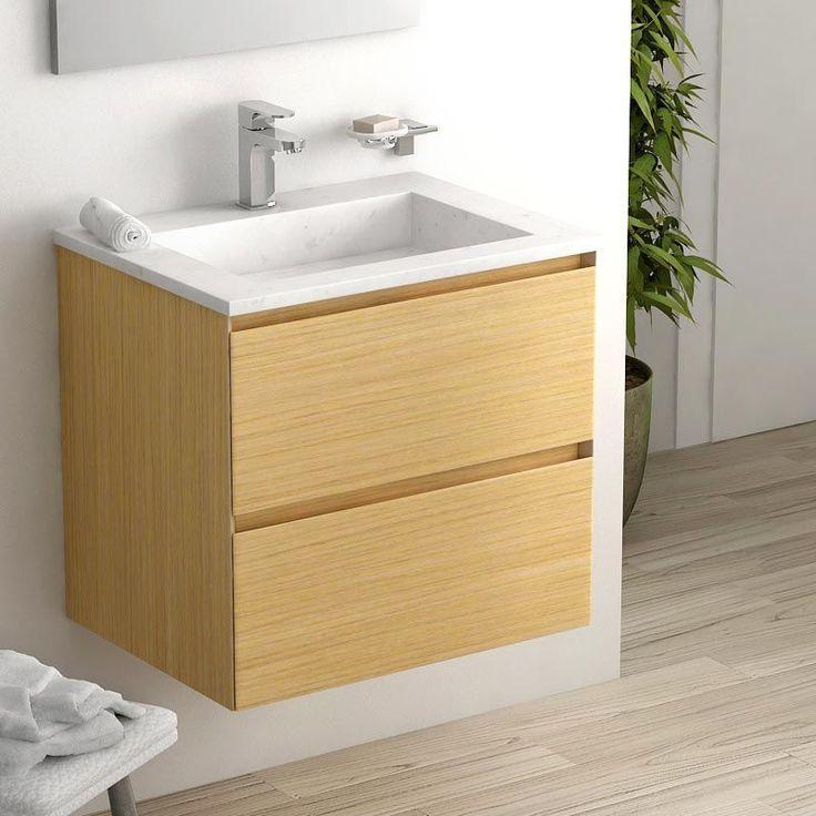 id e d coration salle de bain cordoue meuble salle de bain ch ne clair 61 cm vasque pierre 2. Black Bedroom Furniture Sets. Home Design Ideas