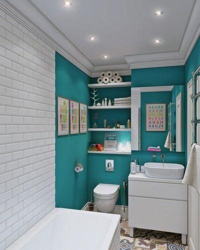 id e d coration salle de bain des jeux de lumi re et de couleur pour une petite salle d 39 eau. Black Bedroom Furniture Sets. Home Design Ideas