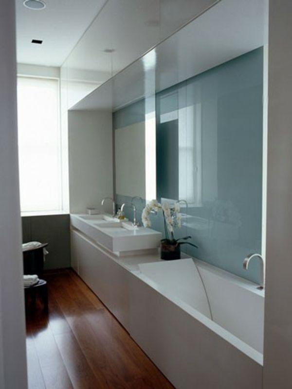 Id e d coration salle de bain revetement de sol en bois - Salle de bain sol bois ...