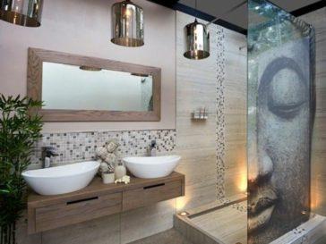 Id e d coration salle de bain un m lange de solid - Decor mural salle de bain ...