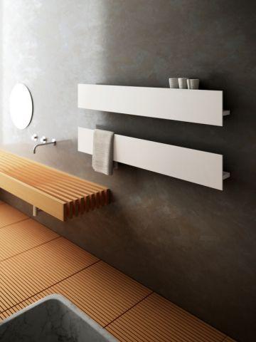 Idée décoration Salle de bain - Un radiateur sèche-serviettes ...