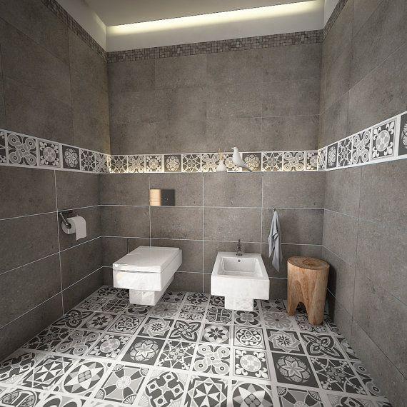 id e d coration salle de bain vinyle superficie tuiles carreaux d coration sol. Black Bedroom Furniture Sets. Home Design Ideas