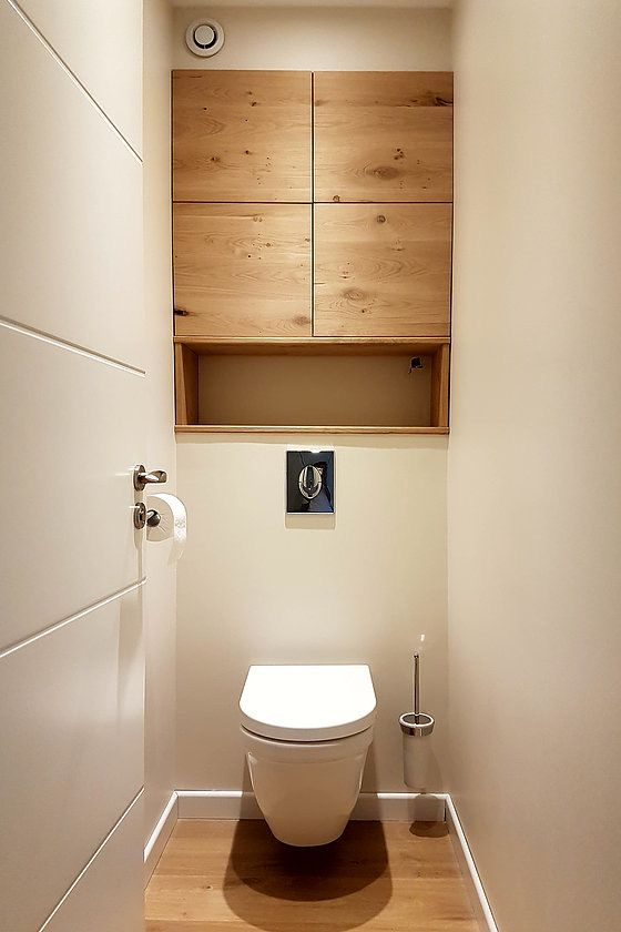 id e d coration salle de bain wc avec placards en bois leading inspiration. Black Bedroom Furniture Sets. Home Design Ideas