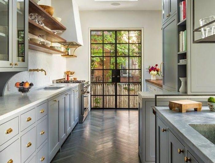 Idée relooking cuisine - 1-cuisine-grise-meubles-en-bois-cuisine ...
