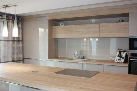 Description 10 idées de cuisines aux meubles laqués blancs et bois forumconstruire com