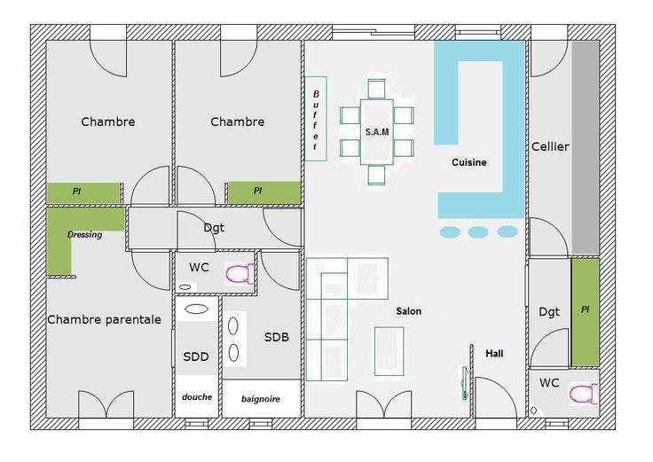 Idée relooking cuisine - Aide pour aménagement plan maison de 95.77 m² (39 messages) - Page 2 ...