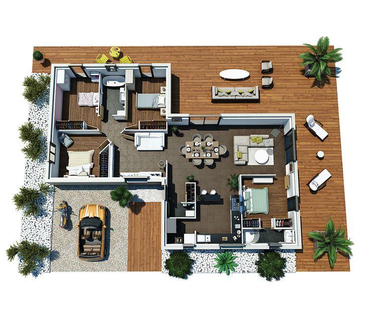 id e relooking cuisine cette maison moderne plain pied. Black Bedroom Furniture Sets. Home Design Ideas