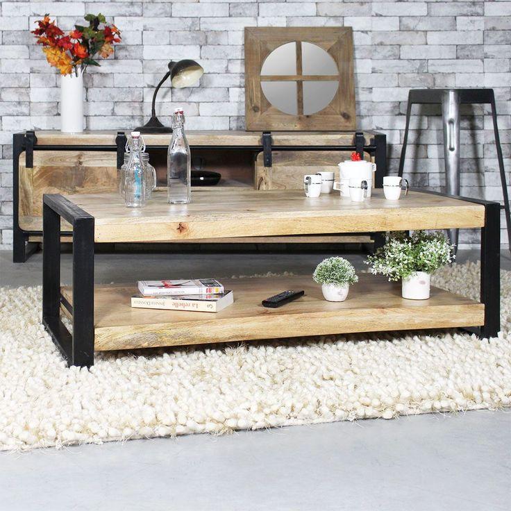 id e relooking cuisine cette table basse bois m tal fait partie de notre collection new york. Black Bedroom Furniture Sets. Home Design Ideas