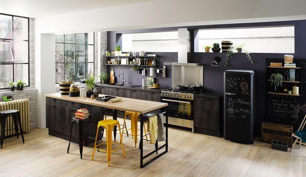 id e relooking cuisine conviviale la cuisine avec lot central est un must des cuisines d. Black Bedroom Furniture Sets. Home Design Ideas