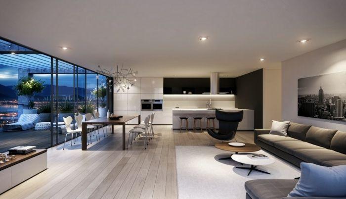 Idée relooking cuisine - idee de deco salon, sol en bois ...