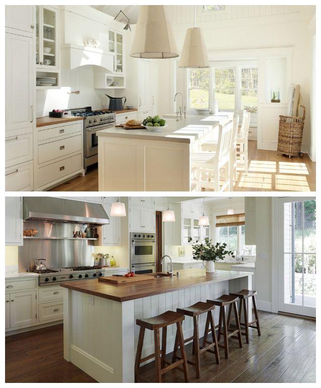 id e relooking cuisine id e ilot central avec tabouret tr s sympa les couleurs et materiaux. Black Bedroom Furniture Sets. Home Design Ideas