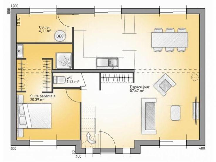 Idée relooking cuisine - Plans de maison : RDC du modèle City ...
