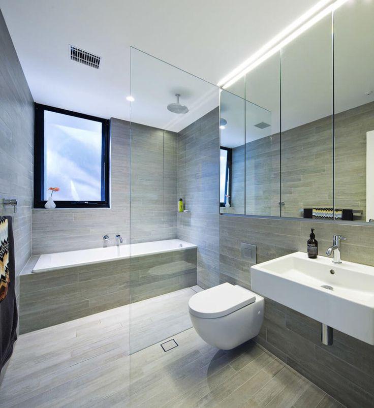 id e relooking cuisine salle de bain avec douche italienne et baignoire au marbre gris et. Black Bedroom Furniture Sets. Home Design Ideas