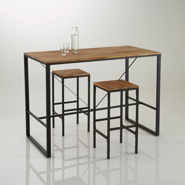 Id e relooking cuisine table de bar haute hiba inspir e - Table de bar cuisine ...