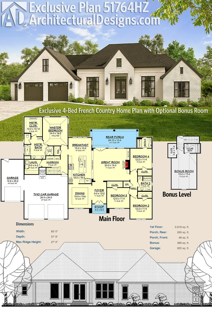 Plans maison en photos 2018 architectural designs for French country home plans with photos