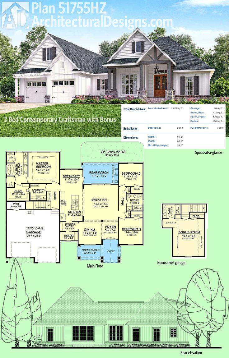 plans maison en photos 2018 architectural designs house plan 51755hz is a 3 bed contemporary. Black Bedroom Furniture Sets. Home Design Ideas