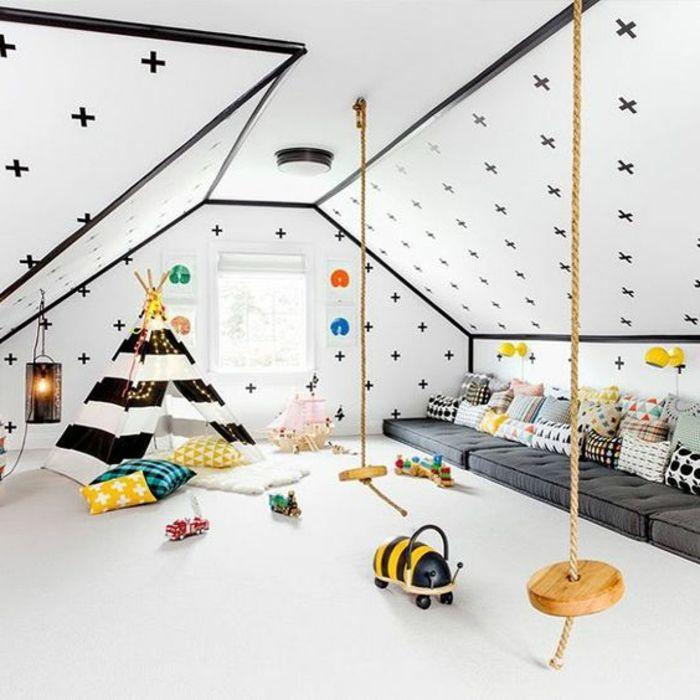 relooking et d coration 2017 2018 chambre montessori matelas gris tipi enfant en noir et. Black Bedroom Furniture Sets. Home Design Ideas