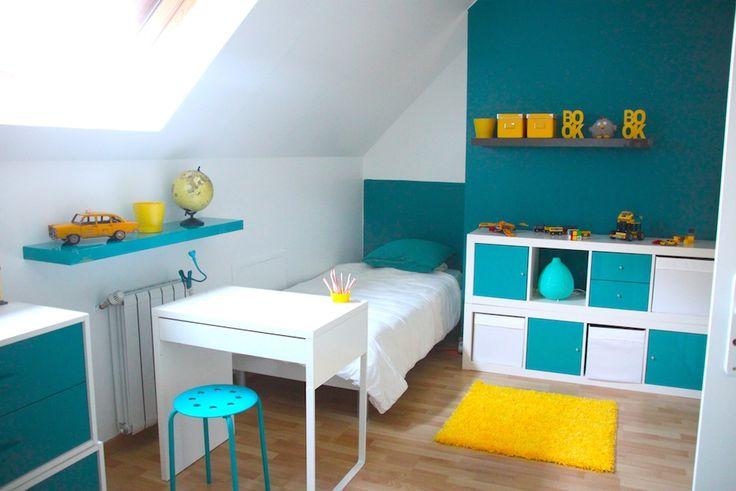 relooking et d coration 2017 2018 d coration chambre enfant bleu et jaune. Black Bedroom Furniture Sets. Home Design Ideas