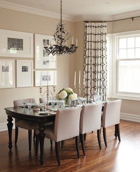 Description Traditional Neutral Dining Room