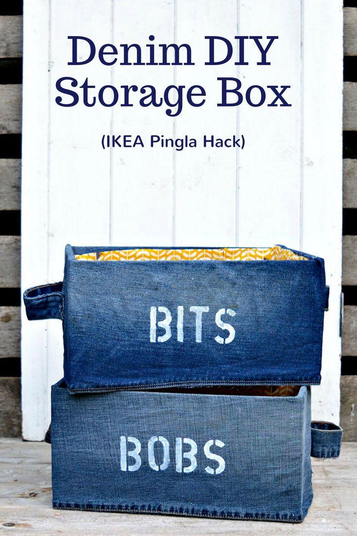 Diy Crafts Fun Denim Diy Storage Box For Your Bits And