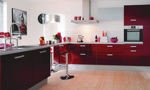 id e relooking cuisine cuisine design rouge magasin but1 leading. Black Bedroom Furniture Sets. Home Design Ideas
