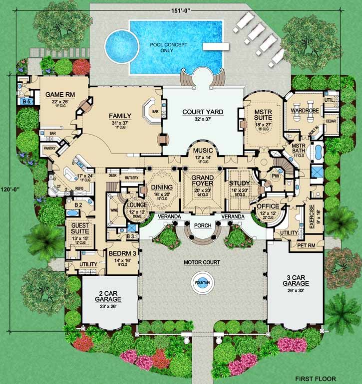 Plans maison en photos luxury style house