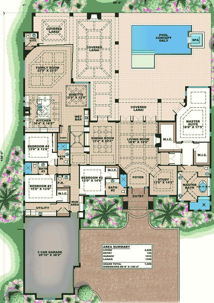 Plans maison en photos 2018 magnificent florida house for Florida house plans with photos