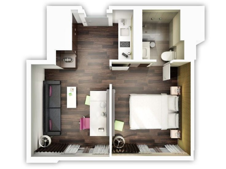 Plans Maison En Photos   Plan Appartement D Studio Et