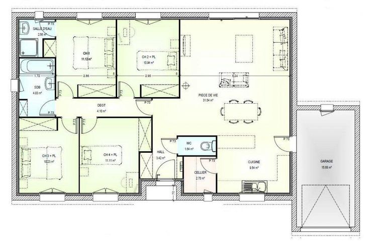 description plan maison plain pied gratuit