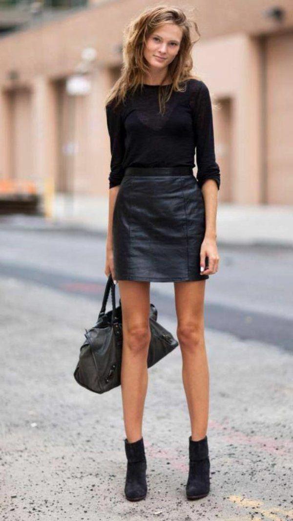tendance chaussures 2017 la jupe simili cuir une. Black Bedroom Furniture Sets. Home Design Ideas