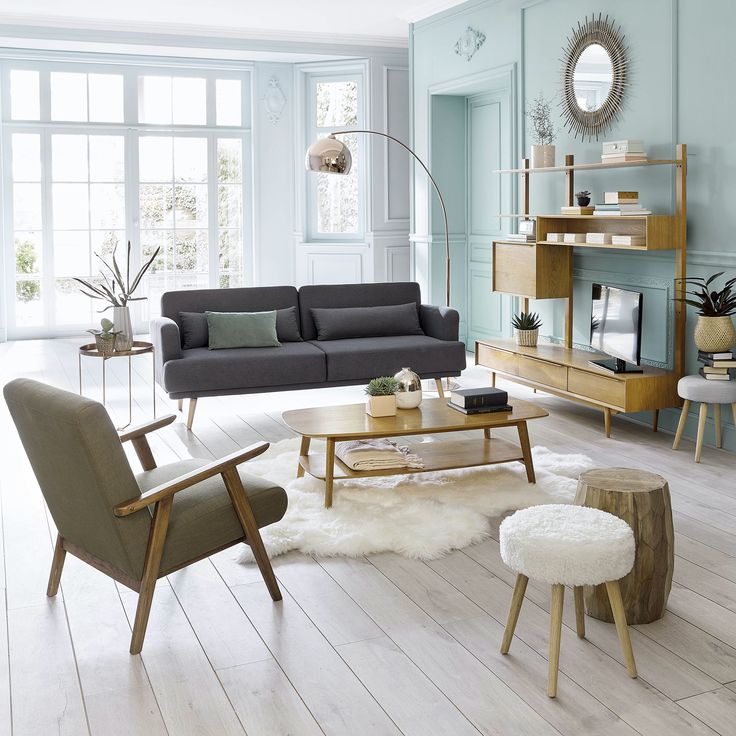 D co salon salon moderne style scandinave interior - Idee deco salon scandinave ...