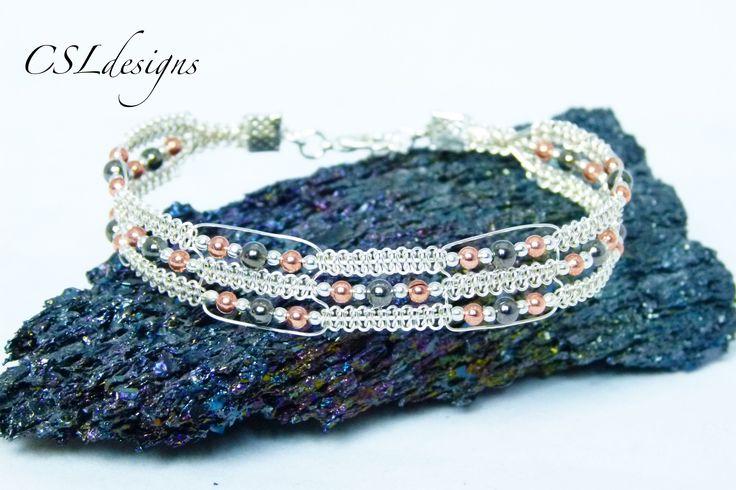 DIY Bijoux - Wire Jewelry Tutorial regal wirework macrame bracelet ...