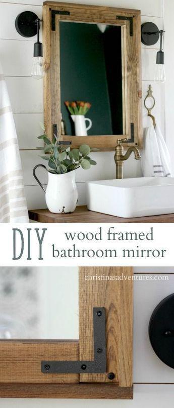 Diy Crafts Diy Wood Framed Bathroom Mirror A Simple