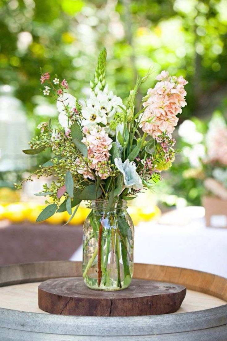 déco de table printemps centre de table mariage bocal - listspirit