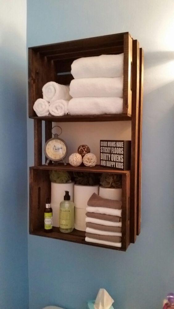 id e d coration salle de bain 20 id es d co avec des caisses en bois laissez vous inspirer. Black Bedroom Furniture Sets. Home Design Ideas