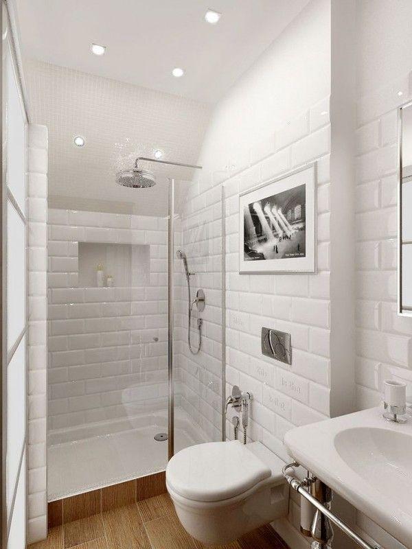 Idée décoration Salle de bain - Petite salle de bain contemporaine ...