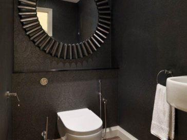 Id e d coration salle de bain farmhouse bathroom for Miroir salle de bain cadre noir
