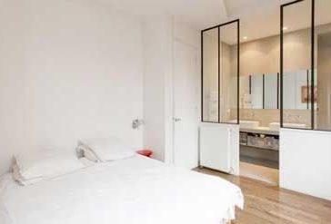 Id e d coration salle de bain d co murale salle de bains for Cloison verriere style atelier