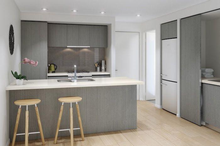 id e relooking cuisine modele de cuisine moderne quip e simple avec meubles gris couleur. Black Bedroom Furniture Sets. Home Design Ideas