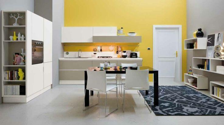 Idée relooking cuisine - placard de cuisine blanche avec étagère ...